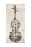 Violin Study, Back Premium Giclee Print