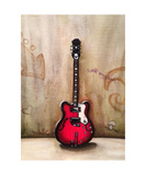 A Guitar Named Sally Photographic Print by Jill English