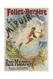 Folies Bergere, Le Miroir Giclee Print by Jules Chéret