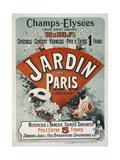 Champs-Elysees,Tous Les Soirs a 8H 1/2, Jardin de Paris Giclee Print by Jules Chéret