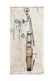 Violin Study, Side Premium Giclee Print by  Symposium Design