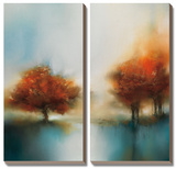 Morning Mist & Maple II Prints by J.P. Prior