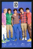 One Direction Signatures Blue Print