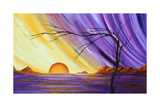 Purple and Gold Royal Sunset Photographic Print by Megan Aroon Duncanson