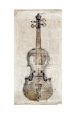 Violin Study, Front Premium Giclee Print