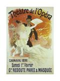 Theatre de l'Opera, Carnaval 1896, Samedi 1er Fevrier, Grande Redoute Paree and Masquee Giclee Print by Jules Chéret