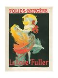 Litographie publicitaire, Loie Fuller au Folies Bergere Giclee Print by Jules Chéret
