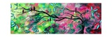 Birds Pink Green Photographic Print by Megan Aroon Duncanson