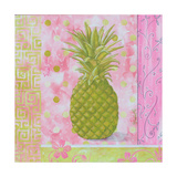 Pineapple Pink and Green Flower Photographic Print by Megan Aroon Duncanson