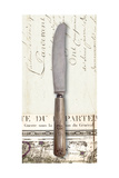 French Cuisine Knife Premium Giclee Print by Devon Ross