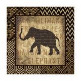African Wild Elephant Border Art