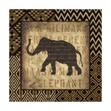 African Wild Elephant Border Premium Giclee Print by Hugo Wild