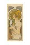 RJ 1900 Woman with a Feather Giclee Print by Alphonse Mucha