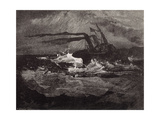 Engraving after the Drawings: Les Travailleurs De La Mer Giclee Print by Victor Hugo