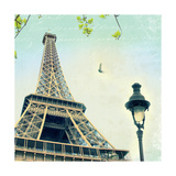 Paris Eiffel Letter Posters by Sue Schlabach