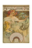 Lefevre-Utile Biscuits, 1897 Giclee Print by Alphonse Mucha