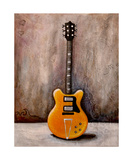 Guitar Orange Photographic Print by Jill English