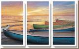 Rainbow Armada Stretched Canvas Print by  Celebrate Life Gallery