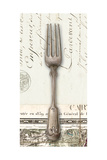French Cuisine Fork Premium Giclee Print by Devon Ross