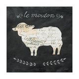 Le Mouton Cameo Sq Print by Courtney Prahl