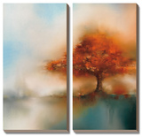 Morning Mist & Maple I Posters by J.P. Prior