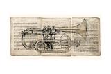 Horn Section Giclee-tryk i høj kvalitet