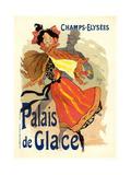 Lithographie publicitaire, le Palais de Glace Giclee Print by Jules Chéret