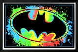 Batman Logo Blacklight Art