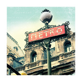 Paris Metro Letter Prints by Sue Schlabach