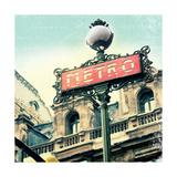 Paris Metro Letter Premium Giclee Print by Sue Schlabach