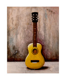 Guitar Yellow Photographic Print by Jill English
