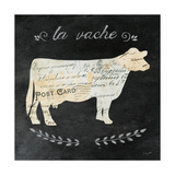La Vache Cameo Sq Prints by Courtney Prahl