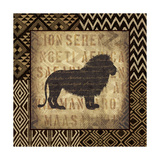 African Wild Lion Border Print by Hugo Wild
