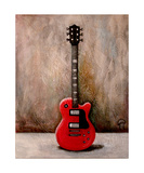 Guitar Red Photographic Print by Jill English