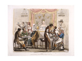A Coffee House Giclee Print by R.b. Peake
