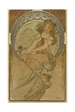 Advertising Poster for the Arts:Painting Giclee Print by Alphonse Mucha