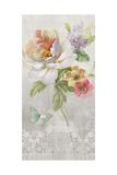 Textile Floral Panel II Print by Danhui Nai