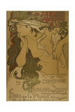 Advertising Poster for the 20th Exhibition of Salon Des Cent Giclee Print by Alphonse Mucha