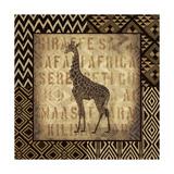 African Wild Giraffe Border Prints