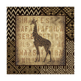African Wild Giraffe Border Prints by Hugo Wild