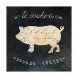 Le Cochon Cameo Sq Poster by Courtney Prahl