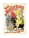 Advertising Lithograph, Le Bal Dumoulin Rouge Giclee Print by Jules Chéret