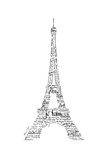 As the French Say…Eiffel Tower Reproduction giclée Premium par Marion De Lauzun