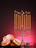 Festive Composition for Hanukkah on Dark Background Prints by  Yastremska