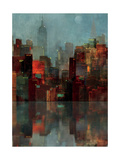 Blue New York Premium Giclee Print by Ken Roko