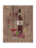Red Wine on Reclaimed Wood Premium Giclee Print by Anastasia Ricci