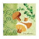 Fresh Linen Mushroom Premium Giclee Print by Lola Bryant