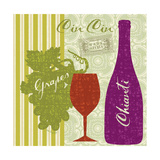 Modern Vino Premium Giclee Print by Lola Bryant