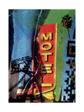 Urban Collage Motel Premium Giclee Print by Deanna Fainelli