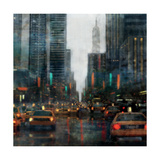 New York after Hours Premium Giclee Print by Ken Roko